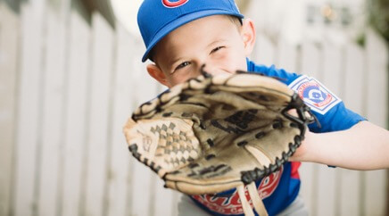 Youth baseball is one of the sports supported through community involvement.